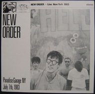 New Order - Paradise Garage NY July 7th, 1983 (1984) unofficial LP white vinyl